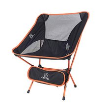 Outdoor Folding Chair Portable Camping Hiking Picnic BBQ Seat Lightweight Fishing Tools Foldable Chairs Universal Beach Chair cheap Aotu CN(Origin) Aluminum Moon Chair 65 * 51 * 51cm (folding) Outdoor Furniture Modern