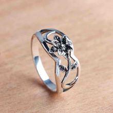Женское Винтажное кольцо в стиле ретро цветочное Открытое вечерние