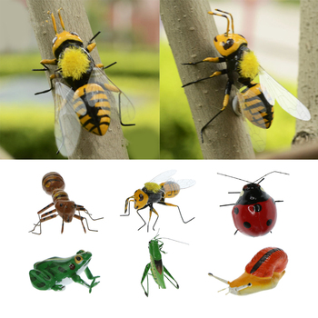 True To Nature Insect Ornament Fridge Magnet Animal Display Outdoor Patio Animal Miniature Garden Ornament Decor Toy Craft Gift image
