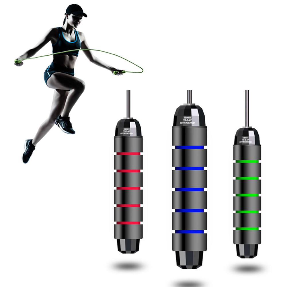 Aerobic Exercise Boxing Jump Rope Fitness Cable Skipping Adjustable Tangle-Free With Ball Bearings Rapid Speed Jump Rope Cable