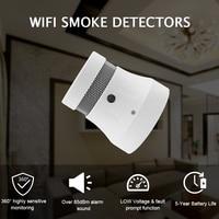 CPVan 4/6 PCS WiFi Smoke Detector Fire Alarm Tuya APP Smart Life APP Control TUV CE Certified Smoke Sensor Fire Alarm Protection
