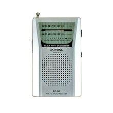 แบบพกพา BC R60 วิทยุเสาอากาศ Telescopic Mini วิทยุเครื่องรับสัญญาณลำโพง 3.5 มม.แจ็คหูฟัง