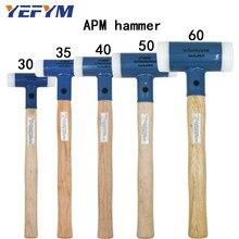 30mm-60mm Double Face Tap młotek nylonowy do wielofunkcyjnego narzędzia ręcznego twardego plastiku i drewna orzechowego średnica narzędzia