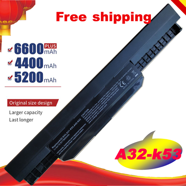 HSW 9 Cells Laptop Battery For Asus K53S K53 K53E K43E K53 K53T K43S X43E X43S X43E K43T K43U A53E A53S K53S Battery