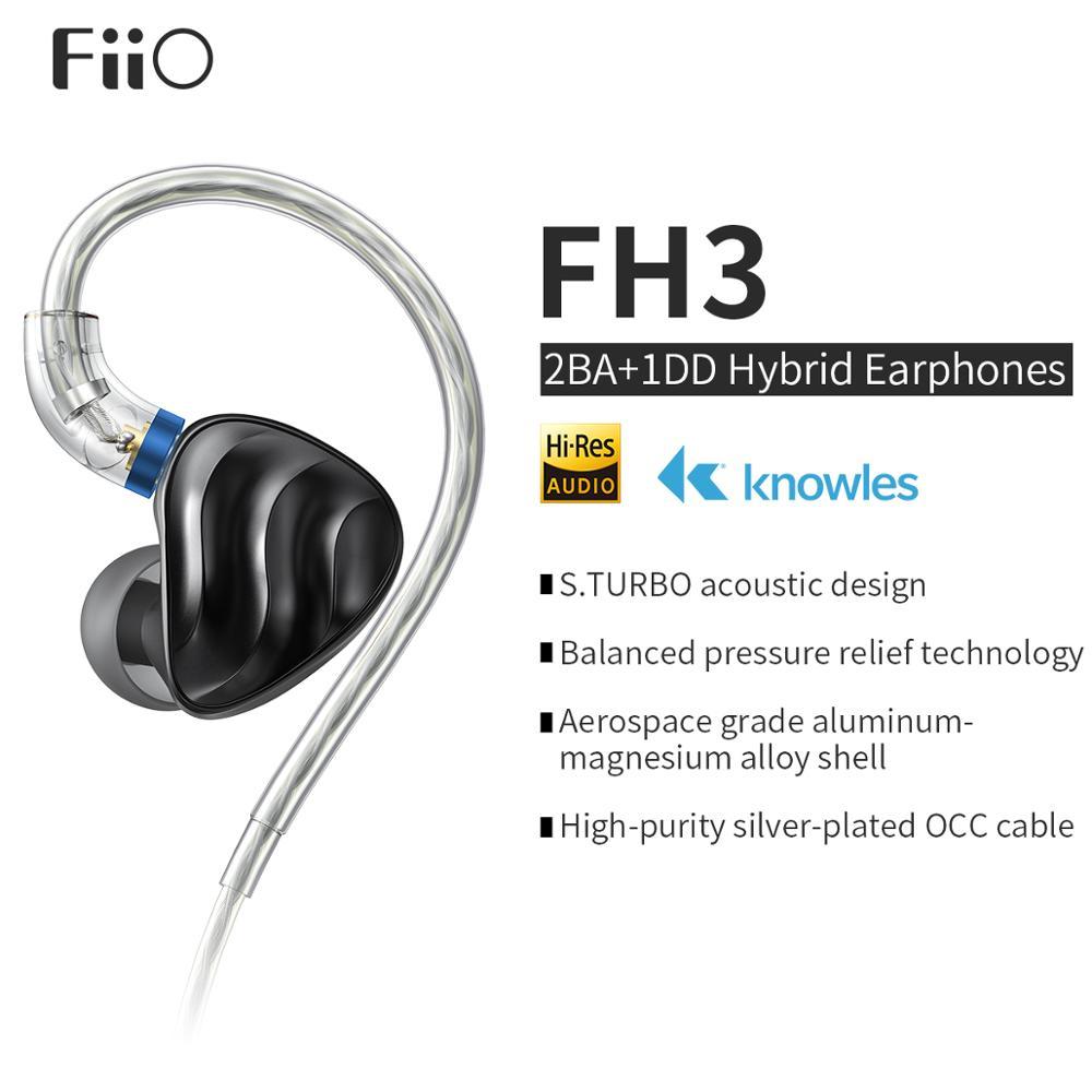 FiiO FH3 Triple Drive In Ear HiFi Earphones with High Resolution