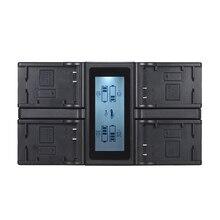 Andoer LP E6 LP E6N 4 Canaux Chargeur de Batterie pour Appareil Photo Numérique ÉCRAN LCD pour Canon EOS 5DII 5DIII 5DS 5DSR 6D 7DII 60D 80D 70D
