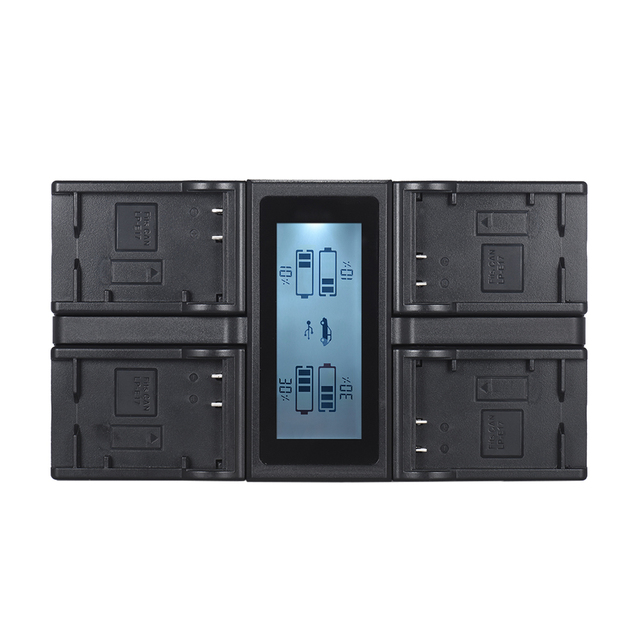 Andoer LP E6 LP E6N 4 Channel Digital Camera Battery Charger จอแสดงผล LCD สำหรับ Canon EOS 5DII 5DIII 5DS 5DSR 6D 7DII 60D 80D 70D