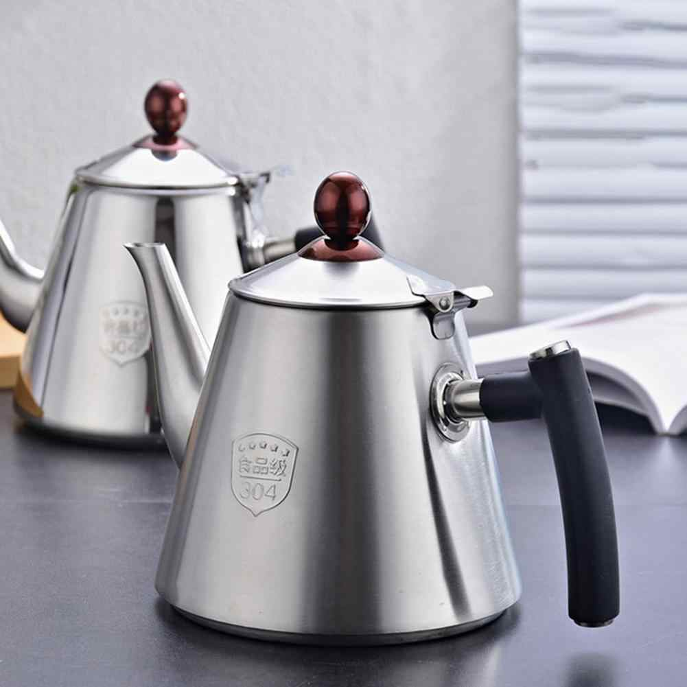 1.2L Stainless Steel Kitchen Brew Tea Coffee Pot Handle Induction Cooker Kettle Tea Water Pot