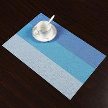 new 1Pc Striped Pattern Placemat Dining Table Mat Bowl Pad Coaster Waterproof Decoration Placemat dining table placemat tea coaster cute zodiac pattern melamine insulation placemat coaster cup bowl coffee pad tableware pad hot