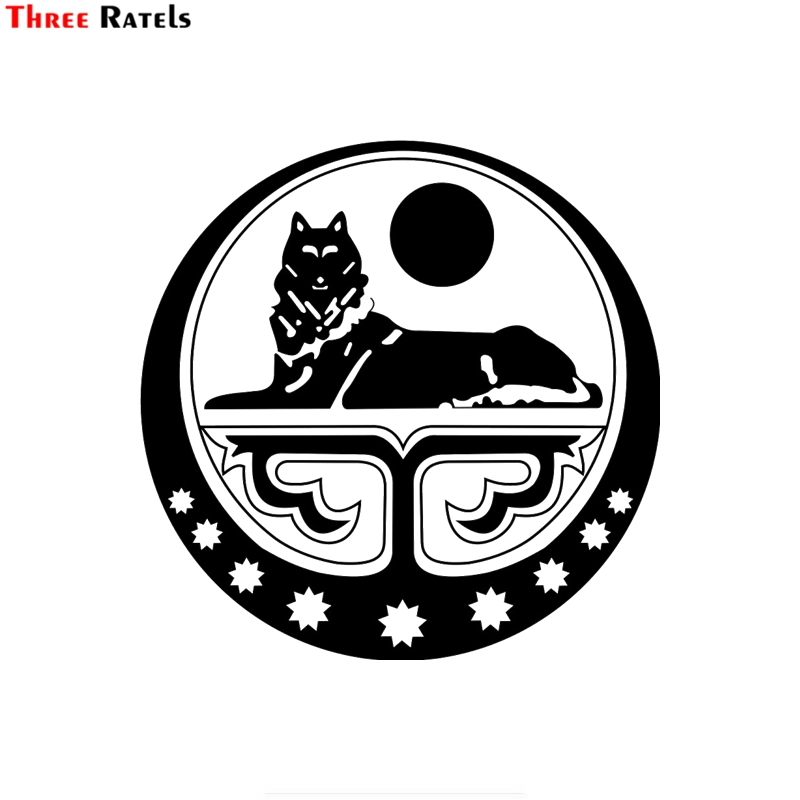 Three Ratels FTZ-161# 15x15cm Coat Of Arms Of The Chechen Republic Of Ichkeria Art Print Window Wall Auto Motorcycle Car Sticker