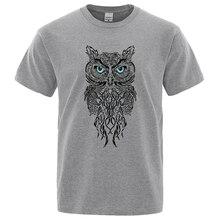 New Men Tshirt Stylish Owl Pattern Printing Casual Short Sleeves Round Collar Brand men's Sport T-shirt Hip Hop Male Tops Tee