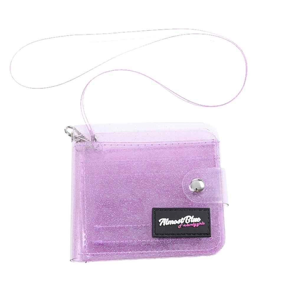 Laser PVC Karte Transparent Geldbörse Frauen Brieftasche Klar Short Geldbörse Mini Geld Brieftasche Karte Halter Bolsas Weibliche Zipper Geldbörsen
