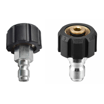 1/4 3/8 conector de conexión rápida macho a M22 14 15 hembra adaptador para accesorios de lavado a presión