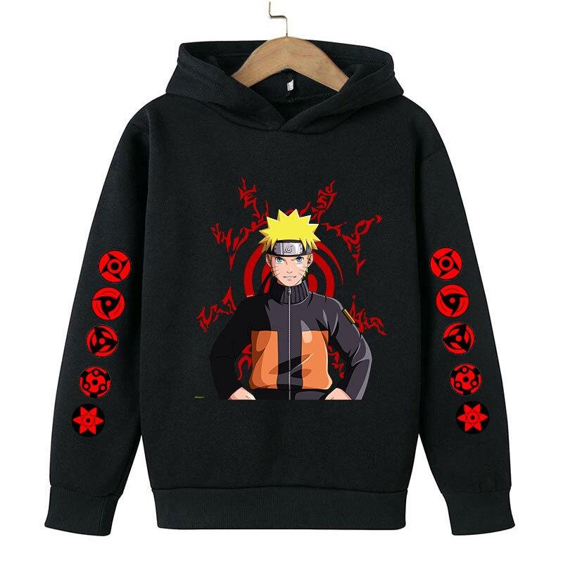 Autumn/Winter Sweater Anime Naruto Boys Hoodie Baby Clothing Children's Clothing Sweater Jogging Sweatshirts4-14