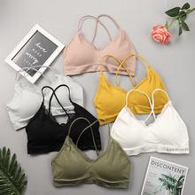 Knitting Tube Top Women Soft Wrap Casual Lingerie Sports Crop Breathable Bandeau Bra