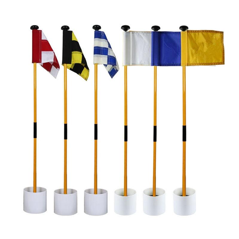 81CM Backyard Practice Golf Hole Pole Cup Flag Stick Golf Putting Green Flagstick Golf Flag And Flagpole Golf Hole New