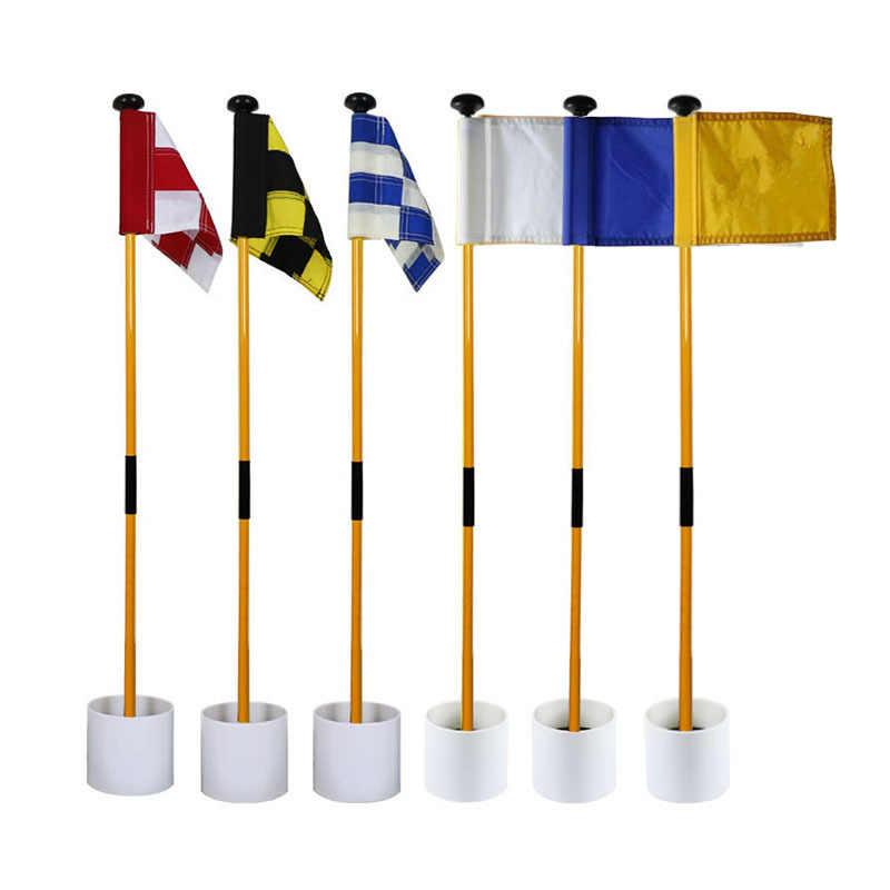 81CM na podwórku praktyka Golf otwór słup kubek flaga kij Golf Pole puttingowe chorągiewki flaga golfowa i maszt Golf otwór nowy