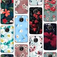Ciciber de moda Funda de flor rosa para Motorola Moto G7 G6 E6 G5 G5S E5 G4 E4 Z2 Z3 una X4 C UE Plus Play de silicona Funda de TPU
