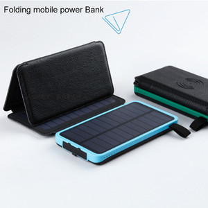 Image 3 - Cargador de teléfono inalámbrico Qi, Banco de energía Solar a prueba de agua, batería externa de 8000mah, Cargador rápido para Xiaomi Mi