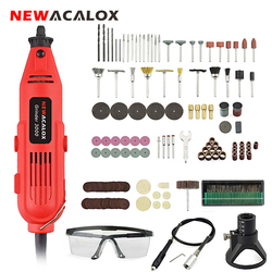 NEWACALOX EU/US 220 В 260 Вт Мини электрическая дрель с переменной скоростью шлифовальный станок гравировальный инструмент вращающиеся инструменты ...