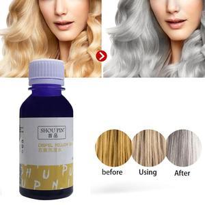 100 мл фиолетовый шампунь, удаляет желтый, против рассыпчатого цвета, без желтого, для серебристого, блонд, отбеленный, серый, тонер для волос, ...