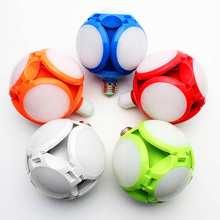 120 bombilla LED 50W E27 Luz de garaje 6800-7200K 360 grados bombilla plegable AC165-265V 220V lámpara de luz blanca fría