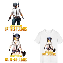 Iron on Transfer Letter Pubg Patches for Clothing DIY T-shirt Heat Vinyl Stickers Stripes Clothes Thermal Press