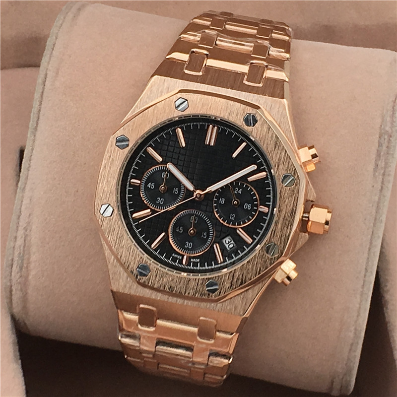 Mens Watches Top Brand Luxury Watches Men Quartz Steel Army Military AP Watches Male Business Wristwatch