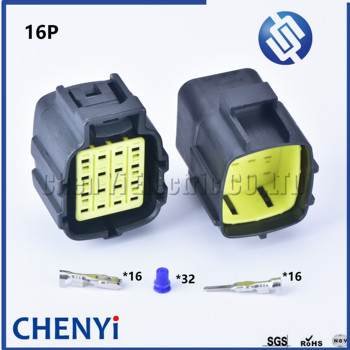 1 sets 16 pin way male female waterproof wire connector auto electrical plug conector 368047-1 368049-1 image