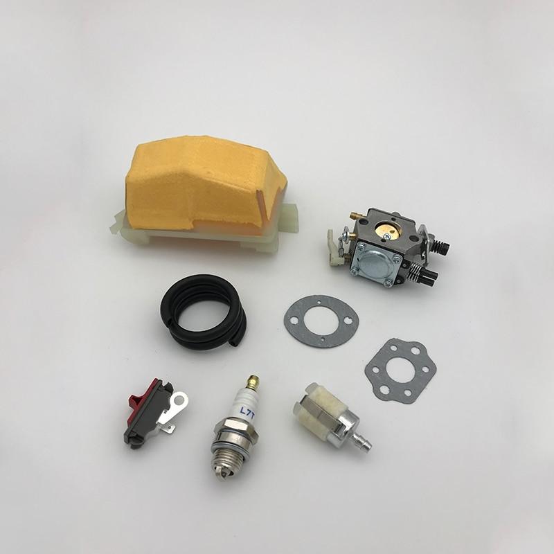 HUNDURE Carburetor Air Filter Fuel Line Hose Filter Kit For HUSQVARNA 51 55 Rancher Chainsaw Replace Parts Walbro WT-170 Carb