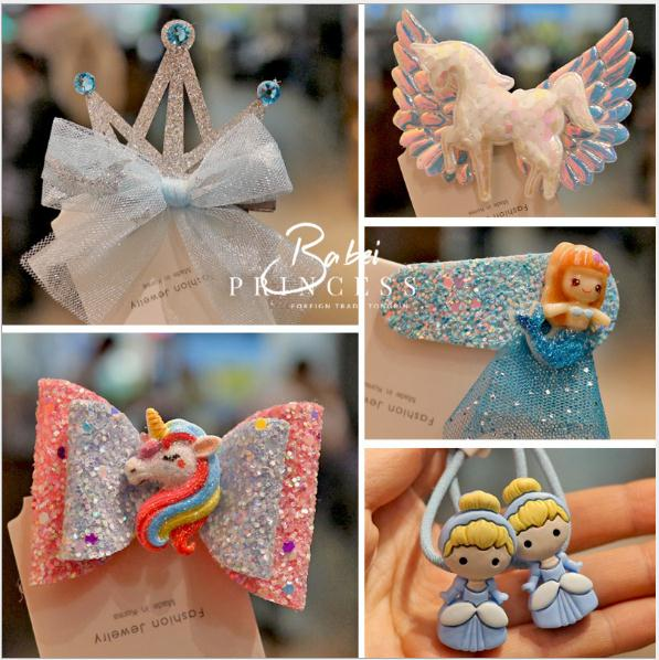 Girls' Hair Clips Princess Hair Accessories, Party Hairstyle Cards