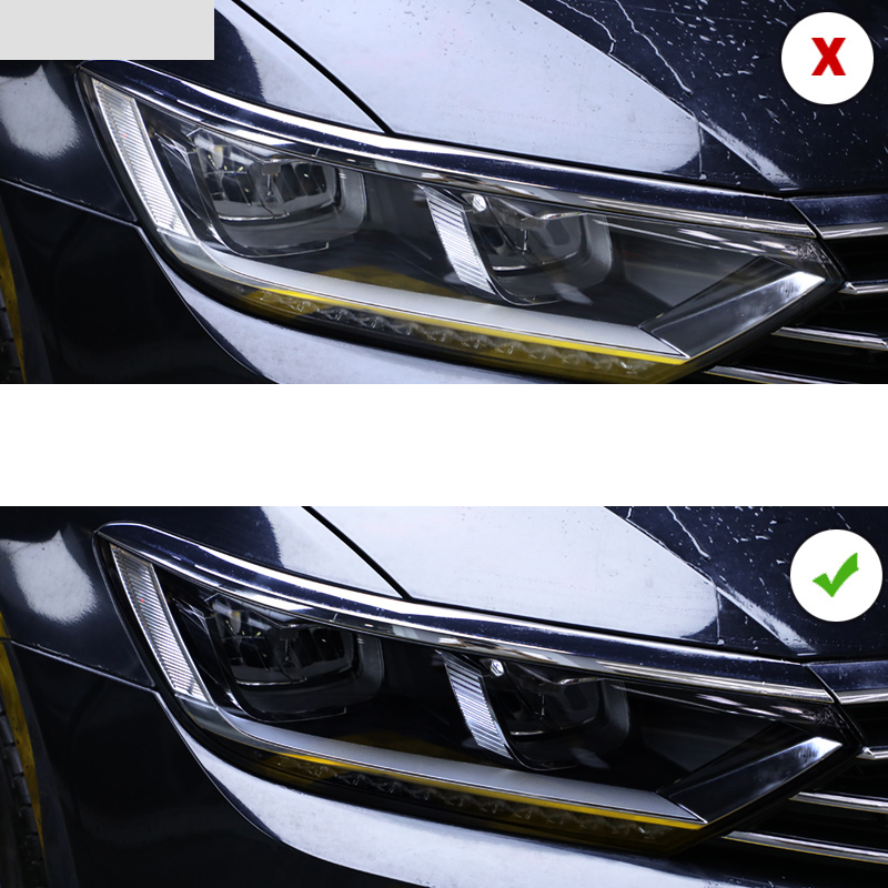 Lsrtw2017 TPU Black Transparent Car Headlight Protective Film For Volkswagen Passat B8 2017 2018 2019 2020 Sticker Vw Variant