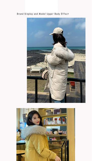 -30 Degrees Winter Women Long Parkas Jackets Plus Size M-5XL Thick Warm Big Fur Collar Female Slim Sintepon Parkas Outwear Coat 19