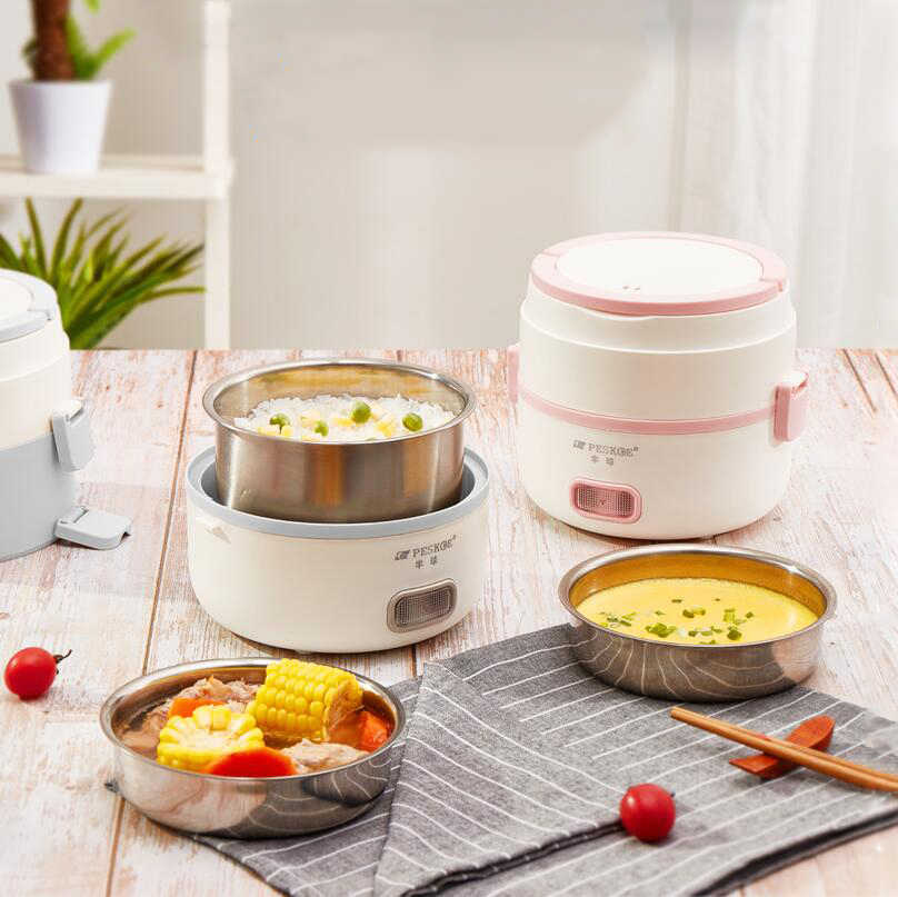 Three Floors Electric Lunch Boxes Small Rice Cooker Cooking Appliance Thermal Lunch Boxes Hot Dish Cooking Rice Cookers Hot