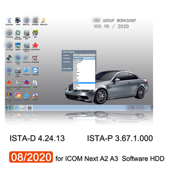 08/2020 for bmw ICOM Next A3 A2 Software HDD ISTA-D 4.24.13 ISTA-P 3.67.1.000 Win7 System 500GB Hard Disk