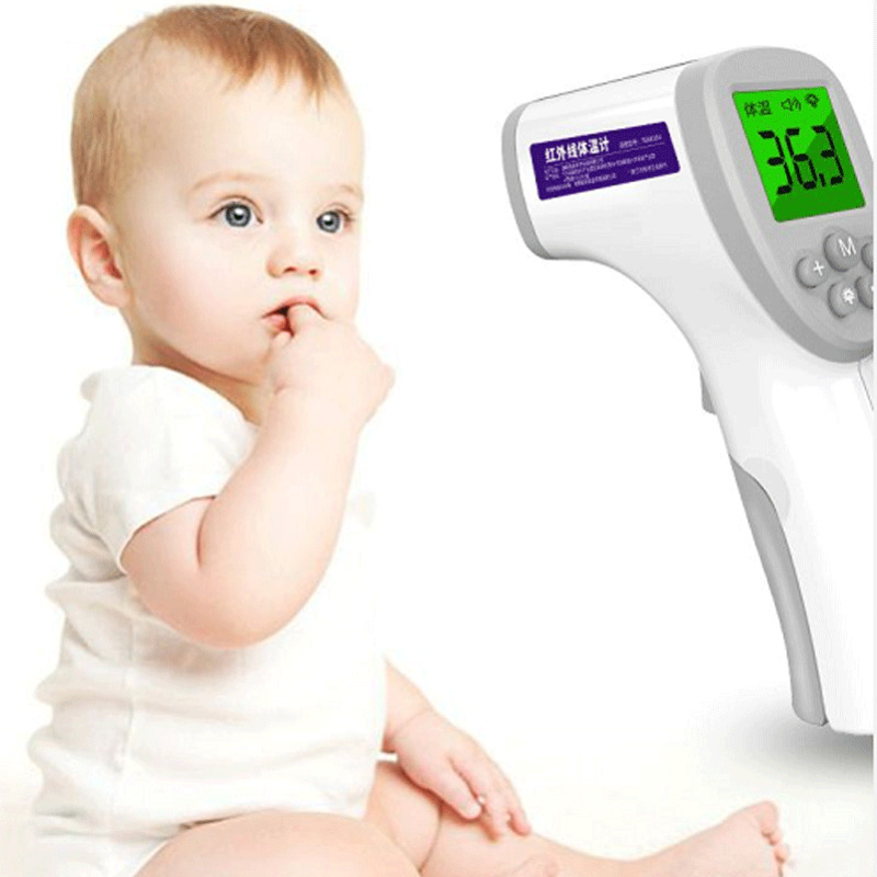 Non Contact IR Infrared Forehead Thermometer Baby Children Adults Body Thermometer LCD Digital Medical