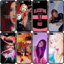 HITAM PINK Blackpink Rose Cover Case untuk Xiaomi Redmi Note CC9 10 9 9S 9T 8 8T 8A 7A 6A 5 5A 5X A1 A2 Pro MIX 3 2S Lite PLUS(China)