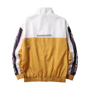 Image 3 - Męskie kurtki Anorak mężczyźni hip hop znosić wiosna Sport wiatrówka Casual Outdoor mężczyźni jesień płaszcz jesienny Streetwear Top 5XL