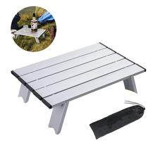 Outdoor travel aluminum portable folding camping table foldable folding picnic tables hiking lightweight roll up camp desk table