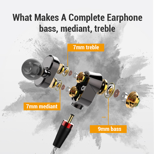 Image 5 - Super Bass 6 Drivers HD Earphones Wired Headphones Sport Stereo Earphone for Honor 9x Phone Headset fone de ouvido for Oneplus 7