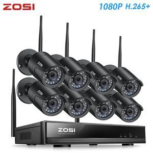 Image 1 - Zosi h.265 1080p 8ch cctv sistema nvr 2mp ir ao ar livre p2p sem fio wifi ip cctv câmera sistema de segurança kit vigilância sem hdd