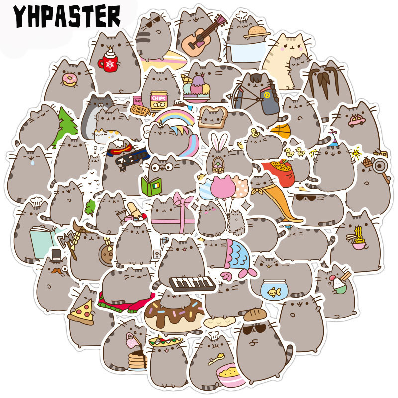 50-100pcs/pack Cute Cat Graffiti Stickers Cartoon Stickers For Laptop Luggage Motorcycle Phone Skateboard Pegatinas