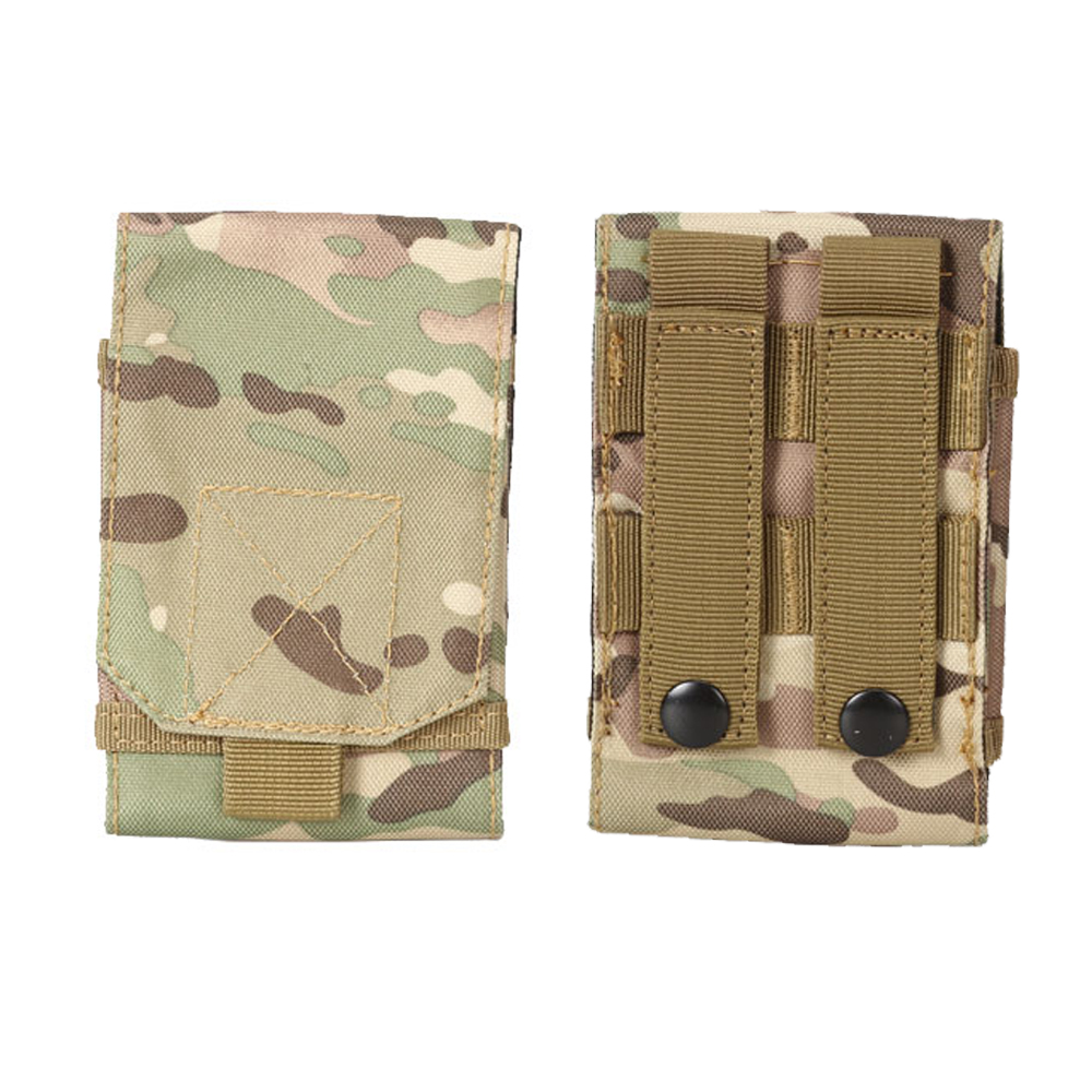 600D Nylon Small Cell Phone Pocket MOLLE Pouch Outdoor Hiking Climbing Hunting Best&Vest Bag With HOOK & LOOP