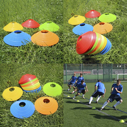 HOT!High Quality 10pcs/set Soccer Training Sign Dish Pressure Resistant Cones Marker Discs Marker Bucket PVC Sports Accessories
