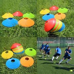 HOT!High Quality 10pcs/set Soccer Training Sign Dish Pressure Resistant Cones Marker Discs Marker Bucket PVC Sports Accessories