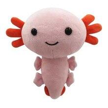20cm Axolotl Plush Toy Kawaii Animal Axolotl Plushies Figure Doll Toy Cartoon Pink Axolotl Stuffed Plush Doll
