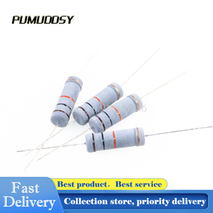 100PCS 1W 0.22 ohm 5% resistor 1W 0.22R 0R22 ohm Carbon Film Resistor +/- 5% 1W color ring resistance New