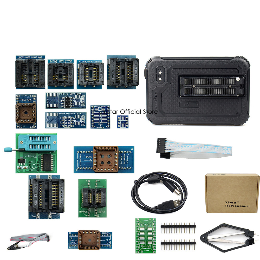 XGecu T56 Programmer 56 Pin Drivers ISP Support 21000+ Chips with 22 adapters