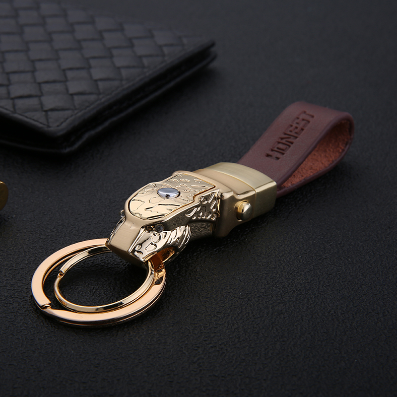 Vintage Genuine Leather Keychain Key Chains for Men Cars Bag Pendants Alloy AntiqueKey Rings Jewelry