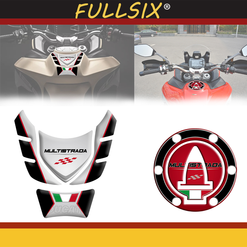 3D наклейка на топливный бак мотоцикла для DUCATI Multistrada 1200/1260 950 эндуро, бензобак, накладка, защитная наклейка